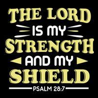 Le Seigneur est ma force vecteur