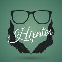 Signe de lunettes hipster vecteur