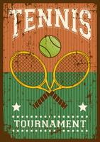 Affiche Sport Pop Art Rétro Sport Tennis vecteur