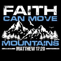 La foi peut déplacer des montagnes vecteur