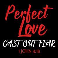 L'amour parfait chasse la peur vecteur