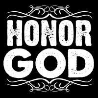 Honorez Dieu Typographie Art vecteur