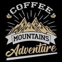 café montagnes aventure vecteur