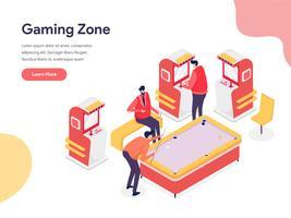 Concept d'illustration Gaming Zone. Concept de conception isométrique de la conception de pages Web pour site Web et site Web mobile. Illustration vectorielle vecteur