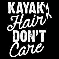 Cheveux de kayak ne se soucient pas vecteur