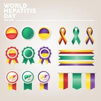 Pack de vecteur pour la journée mondiale de l'hépatite