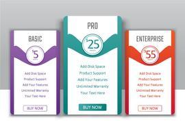 Plans tarifaires pour les sites Web et les applications