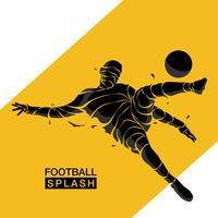 silhouette de football soccer splash vecteur