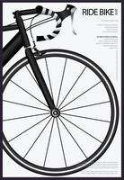 Illustration vectorielle de vélo vélo affiche
