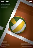 Modèle d'affiche de tournoi de volley-ball Design Illustration vectorielle