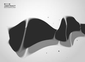 Résumé de la couverture de la technologie noir et blanc. vecteur