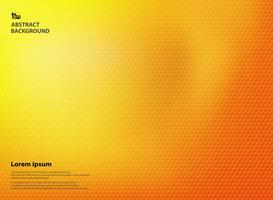Couleurs abstraites jaune et orange dégradé avec la texture du modèle pentagone.