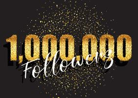 Fond de célébration scintillante d'un million d'adeptes