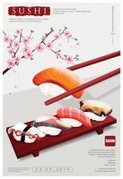 Affiche d'illustration vectorielle Restaurant Sushi vecteur