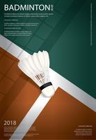 Illustration vectorielle de badminton championnat affiche