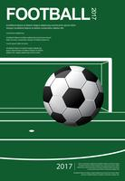 Affiche de football football illustration vestor