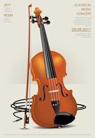 Illustration vectorielle de musique classique concept violon