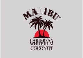 Rum Malibu vecteur