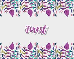 Cadre décoratif forêt vecteur