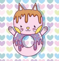 Caricature de chat mignon