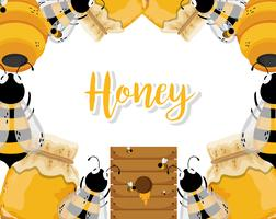 Miel frais de la ferme vecteur