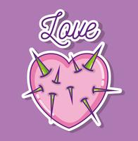 Dessins animés d'amour et de coeurs