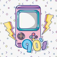 Dessins animés Pop art des années 1990 vecteur