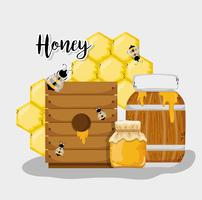 Miel frais de la ferme