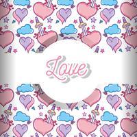 Amour et coeurs de fond