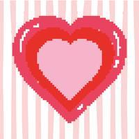 Jeu vidéo coeur pixelisé