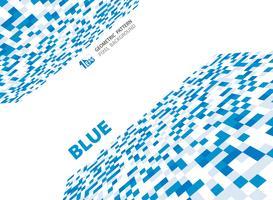 Modèle de motif géométrique abstrait pixel bleu.