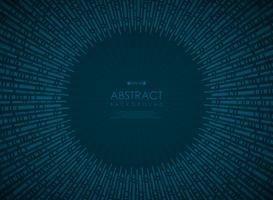 Motif géométrique dégradé bleu technologie cercle abstrait. vecteur