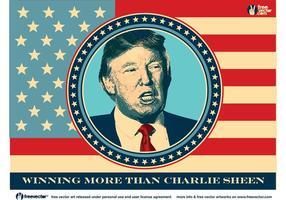 Donald Trump pour le président vecteur