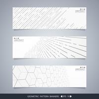 Résumé des bannières de lignes géométriques modernes.