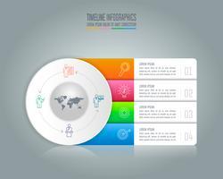 concept d'entreprise de conception infographique avec 4 options.