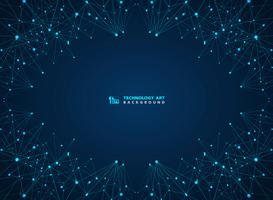 Fond de lasers de ligne numérique abstrait technologie bleue. illustration vectorielle eps10