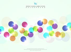 Abstrait cercle coloré bulle avec fond de paillettes de lumière.