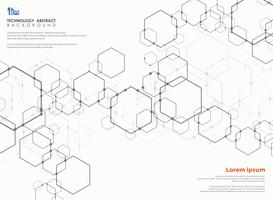Résumé futuriste du modèle de conception moderne de technologie pentagone.