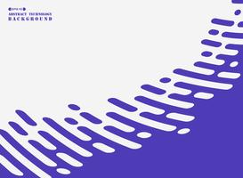 Ligne de bande abstraite de violet sur fond blanc.