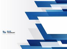 Motif de lignes de technologie abstraite bande bleue dégradé avec fond blanc.