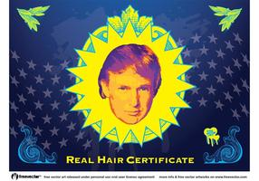 Vecteur de cheveux Donald Trump