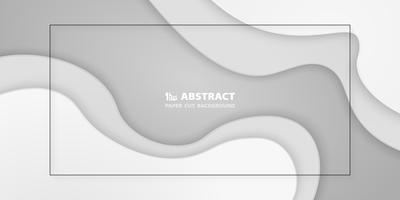 Abstrait papier blanc dégradé coupé de fond. Vous pouvez utiliser pour la mise en page d'une présentation, d'une affiche, d'une annonce ou d'un rapport. vecteur