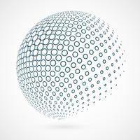 Contour de cercle abstrait global de la technologie de fond bleu. vecteur