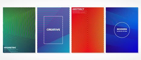Motif géométrique minimal abstrait coloré couvre motif. vecteur