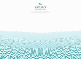 Abstrait bleu motif ondulé rayure lignes fond de mer de l'océan. vecteur