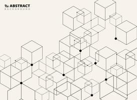 Modèle de conception abstrait modèle géométrique noir simple.