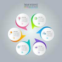 concept d'entreprise de conception infographique avec 6 options. vecteur