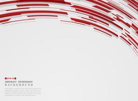Résumé de fond haute technologie motion dégradé bande rouge lignes. vecteur