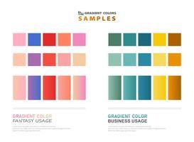 Échantillons de dégradé thème de couleur abstraite pour l'utilisation. vecteur