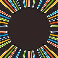 Résumé de la simple ligne colorée en arrière-plan central.